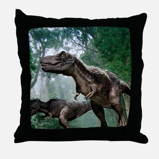 Tyrannosaurus rex dinosaurs Throw Pillow