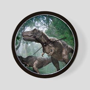 Tyrannosaurus rex dinosaurs Wall Clock