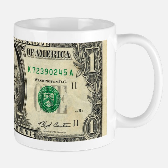 US dollar bill, George Washington parod Mug