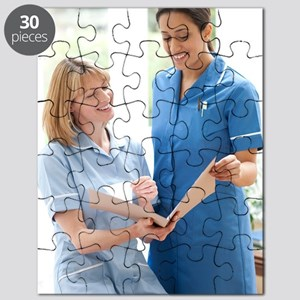 Nurses checking notes Puzzle