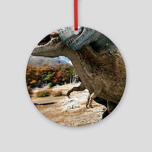 Tyrannosaurus rex dinosaurs Round Ornament