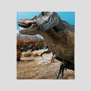Tyrannosaurus rex dinosaurs Throw Blanket