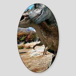 Tyrannosaurus rex dinosaurs Sticker (Oval)