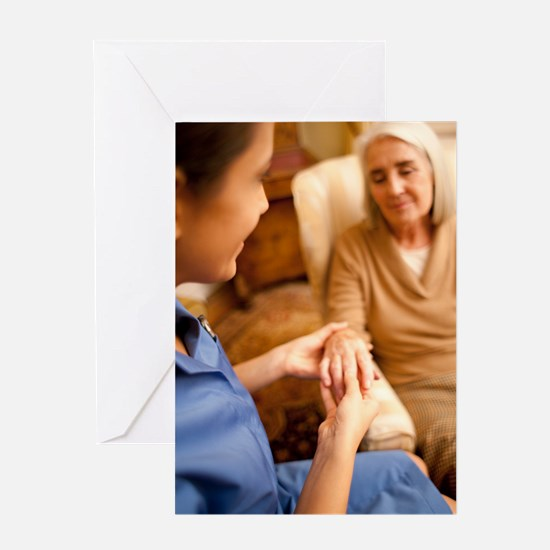 Nurse on a home visit Greeting Card