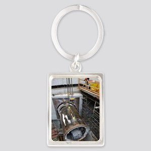 Tunnelling a sewerage pipe Portrait Keychain