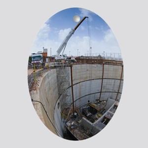 Tunnelling a sewerage pipe Oval Ornament