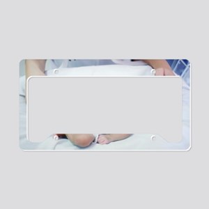 Nurse and premature baby License Plate Holder