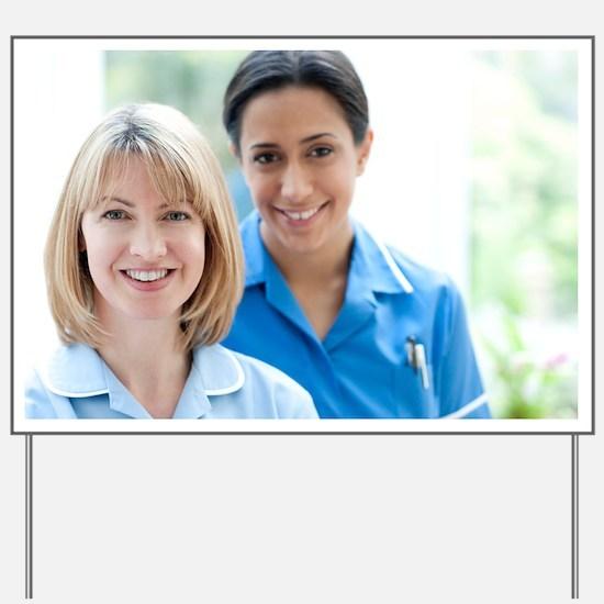 Nurses smiling Yard Sign