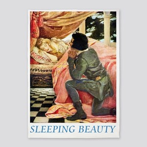 Sleeping Beauty_blue 5'x7'Area Rug