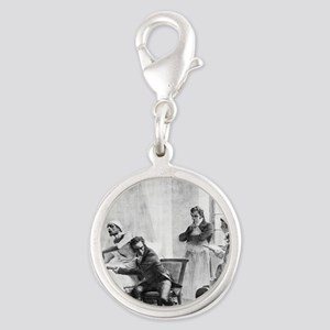 Tuberculosis diagnosis, 19th c Silver Round Charm