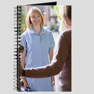 Nurse on a home visit Journal