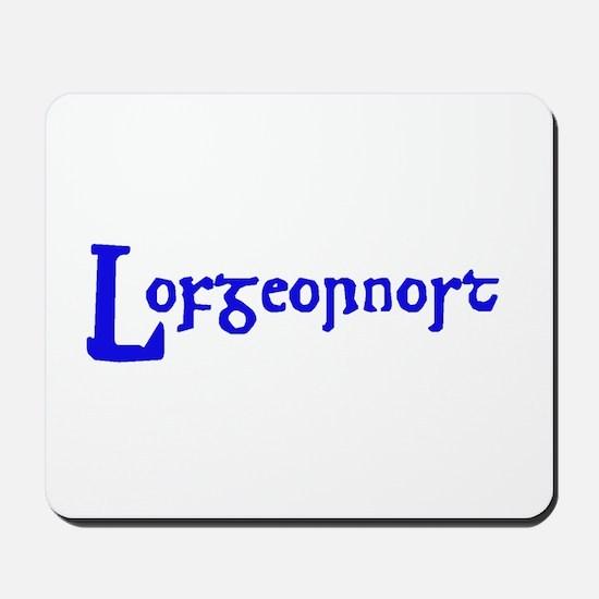 Lofgeornost (blue) Mousepad