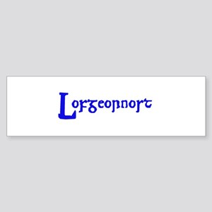 Lofgeornost (blue) Bumper Sticker