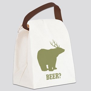 Beer Deer Bear Canvas Lunch Bag