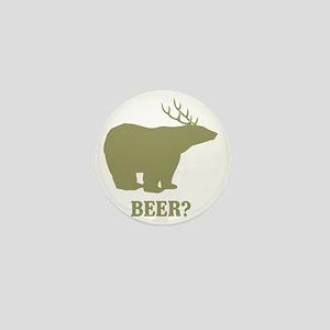 Beer Deer Bear Mini Button