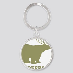 Beer Deer Bear Round Keychain