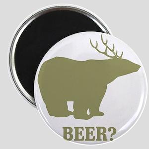 Beer Deer Bear Magnet
