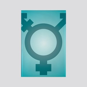 Transgender symbol, artwork Rectangle Magnet