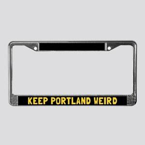 Keep Portland Weird License Plate Frame
