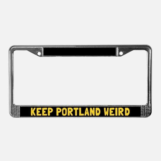 Keep Portland Weird License Plate Frame