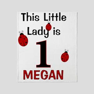 MEGAN - This Little Lady Is 1 (Ladyb Throw Blanket