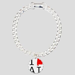 I Love AL Alabama Charm Bracelet, One Charm