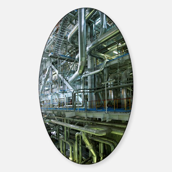 Thermal power station Sticker (Oval)