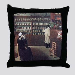 The Pharmacy, 1912 artwork Throw Pillow