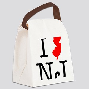 I Love NJ New Jersey Canvas Lunch Bag