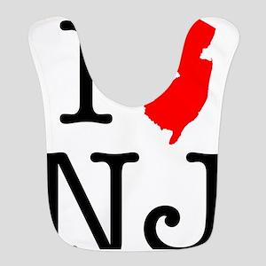 I Love NJ New Jersey Bib