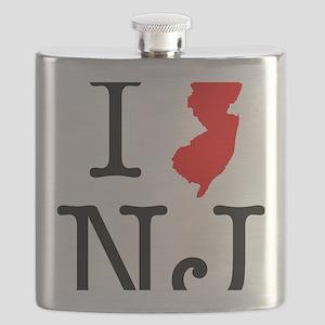I Love NJ New Jersey Flask