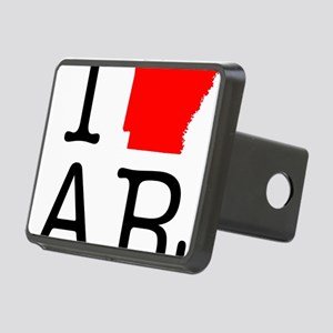 I Love AR Arkansas Rectangular Hitch Cover