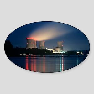 Three Mile Island nuclear power sta Sticker (Oval)