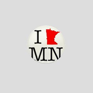 I Love MN Minnesota Mini Button