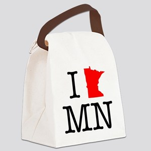 I Love MN Minnesota Canvas Lunch Bag