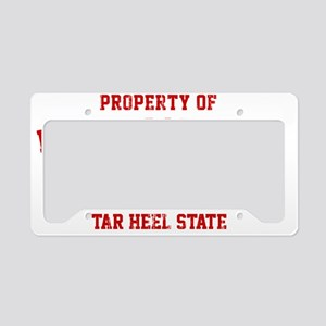 Property of NORTH CAROLINA License Plate Holder