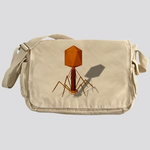 T4 bacteriophage, artwork Messenger Bag