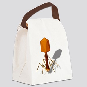 T4 bacteriophage, artwork Canvas Lunch Bag