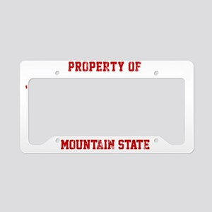 Property of West Virginia the License Plate Holder
