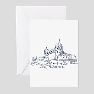 England: Tower Bridge Greeting Cards (Pk of 10