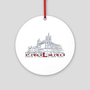 England: Tower Bridge Ornament (Round)
