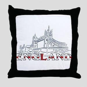 England: Tower Bridge Throw Pillow