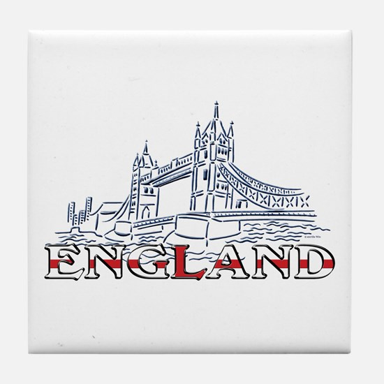 England: Tower Bridge Tile Coaster