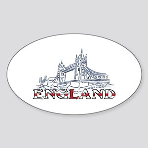 England: Tower Bridge Oval Sticker