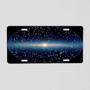 Swift mission gamma ray bur Aluminum License Plate