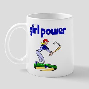 Girl Power Baseball Mug