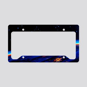 Sunrise in Space' by Leonov License Plate Holder