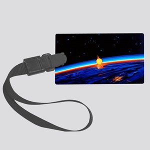 Sunrise in Space' by Leonov Large Luggage Tag