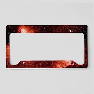 Swan and Eagle nebulae License Plate Holder