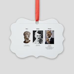 Dictator blame Picture Ornament